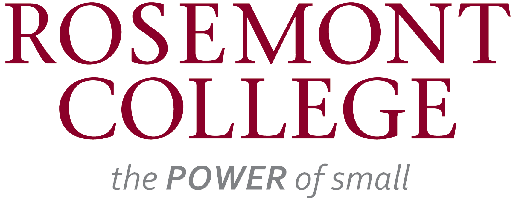 Rosemont College Logo - The Power of Small